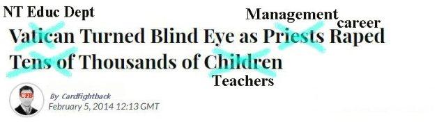DoE same as Vatican paedophile priests blind eye