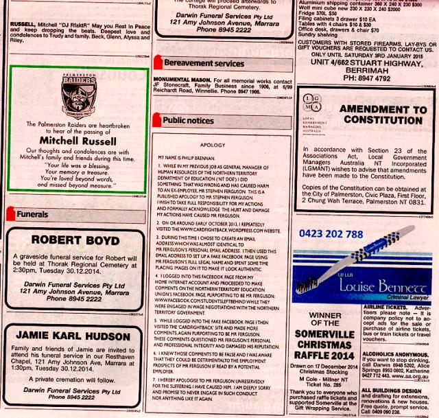 phil-brennan-apology-nt-news-27-dec-2014