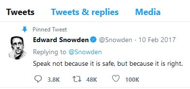 Edward Snowden speak up