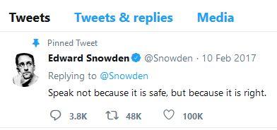 Edward Snowden speak up