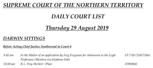 Ferg Ferguson lawyer