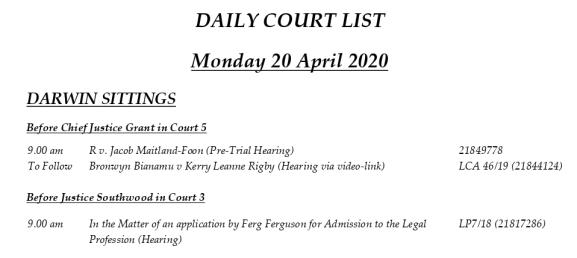 Ferg in Court